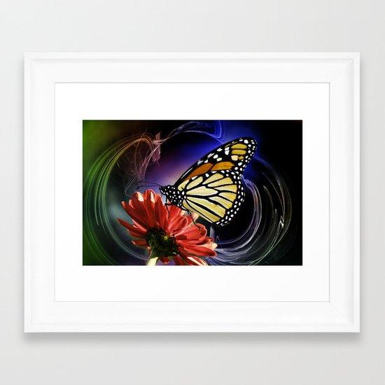 Butterfly Summer Dance  Framed Art Print