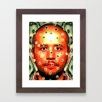 GUILTY MONEY Framed Art Print