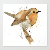 Ready Robin Canvas Print