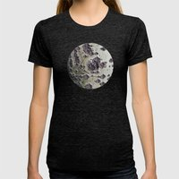 Planetary Bodies - Green Tree Womens Fitted Tee Tri-Black SMALL