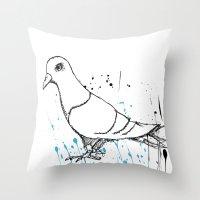 Bird Of Grey Throw Pillow