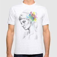 Butterfly Queen Mens Fitted Tee Ash Grey SMALL