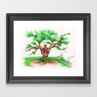 ME ON A SCHOOL TREE - 19… Framed Art Print