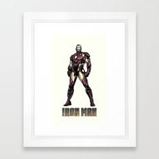 Iron Man - Colored Sketch Framed Art Print