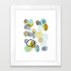 Jamm - abstract art painting brushstrokes modern minimal paint trendy colors hipster gender neutral  Framed Art Print