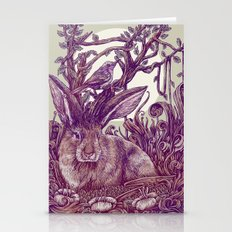 Rabbit Horns Stationery Cards