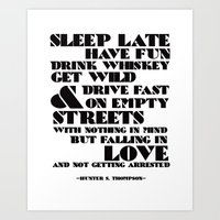 Sleep Late... Art Print