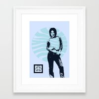 jean ad Framed Art Print