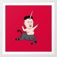 Kim Jong Unicorn Art Print