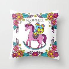 Rock-A-Bye (Pink) Throw Pillow
