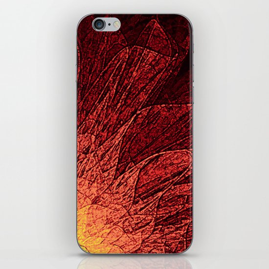 Abstract Flower - red iPhone & iPod Skin
