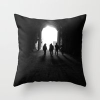 The Tunnels Throw Pillow
