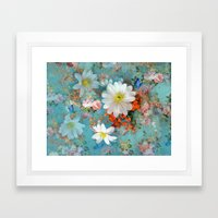 Romantic Flowers And But… Framed Art Print