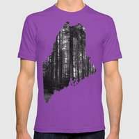 Cobscook Bay, Maine Mens Fitted Tee Ultraviolet SMALL