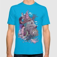 Forest Warden Mens Fitted Tee Teal SMALL