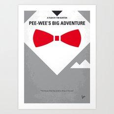 No511 My Pee Wees Big Adventure minimal movie poster Art Print