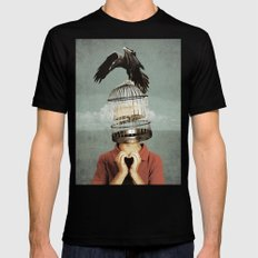 metaphorical assistance Mens Fitted Tee Black SMALL