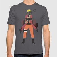 Sage Naruto Mens Fitted Tee Asphalt SMALL