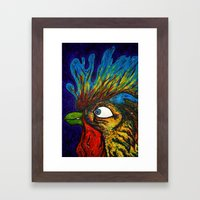 Rooster, Gnarley Framed Art Print