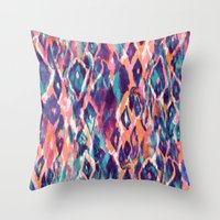 Mystical Ikat Throw Pillow