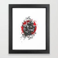 Black Samurai Framed Art Print