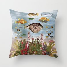 Amniotic Fluid Throw Pillow