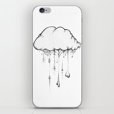 Happy Cloud Drawing, Cute Whimsical Illustration iPhone & iPod Skin