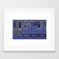 Subway Bends Framed Art Print