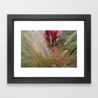 Fuzzy Stem Framed Art Print