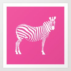 Big Pink Zebra Art Print