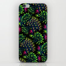 Cactus Floral - Bright Green/Pink iPhone & iPod Skin