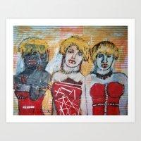 3 BLONDE VAMPIRE Art Print