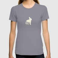 Rabbit Loves Carrots Womens Fitted Tee Slate SMALL