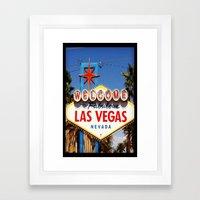 Ah Vegas... Framed Art Print