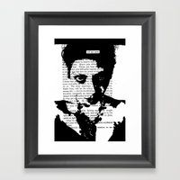 Tell Me More Framed Art Print