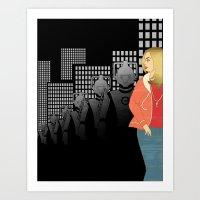 Deco Who - Rose Art Print
