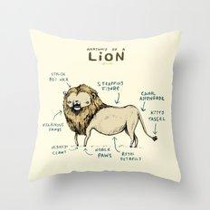 Anatomy of a Lion Throw Pillow