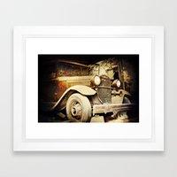 Vintage metal Framed Art Print