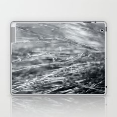 Fire Grass in Black and White Laptop & iPad Skin