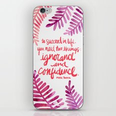 Ignorance & Confidence #… iPhone & iPod Skin