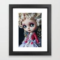 Marie antoniette Masquerade Custom Blythe doll Framed Art Print