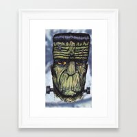 The Monster Framed Art Print