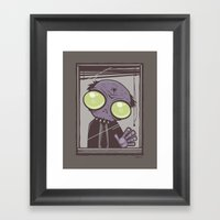 Office Zombie Framed Art Print