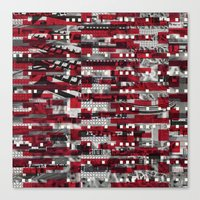 Nothing Is Accomplished (P/D3 Glitch Collage Studies) Canvas Print