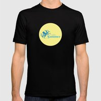 Hello Summer Mens Fitted Tee Black SMALL