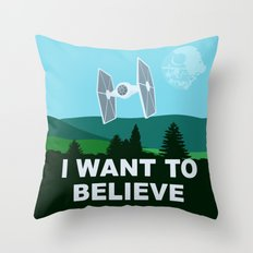 I WANT TO BELIEVE - Star Wars Throw Pillow