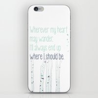 Wherever my heart may wander. iPhone & iPod Skin