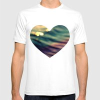 Waveform Mens Fitted Tee White SMALL