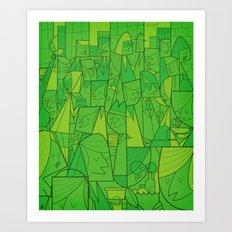 Citystreet (green version) Art Print