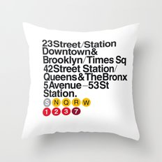 Nº5. Helvetica Posters … Throw Pillow